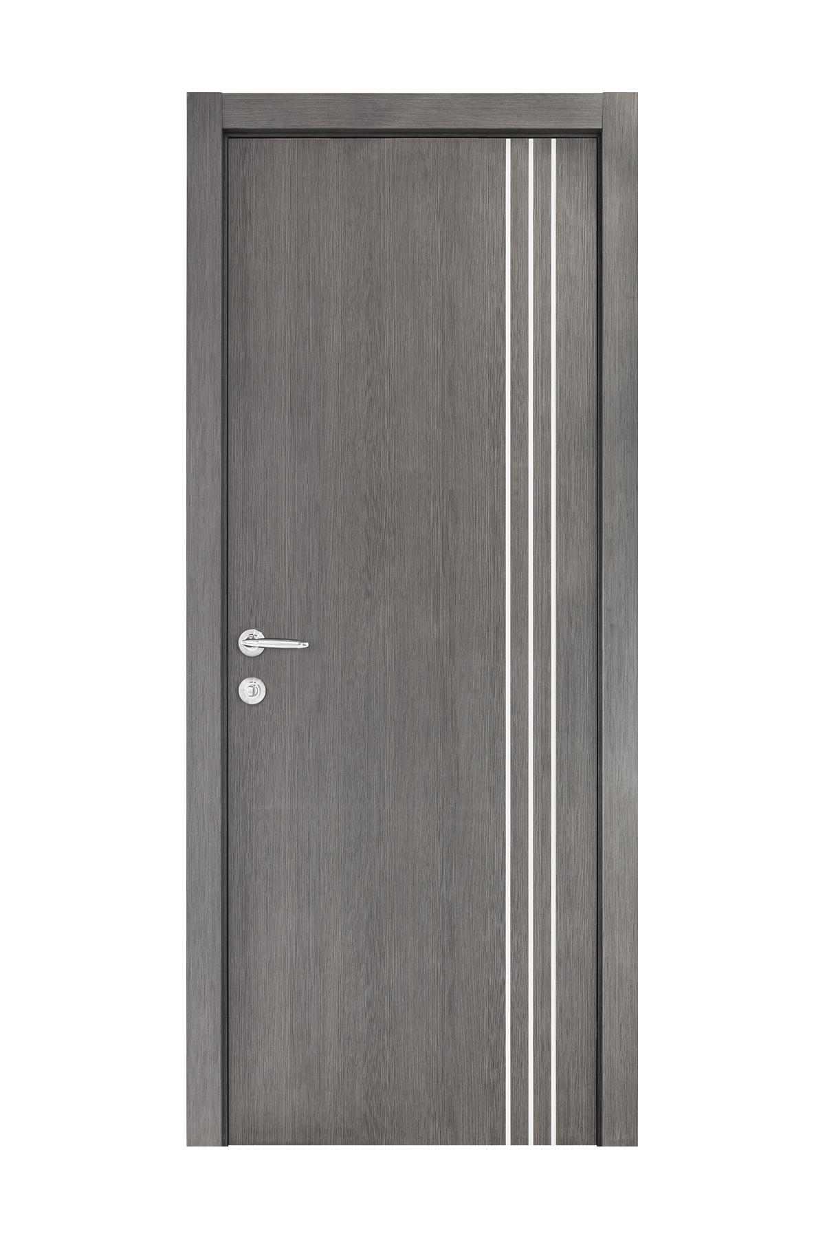 Smart 005 Gray Wood Eco Veneer Interior Door