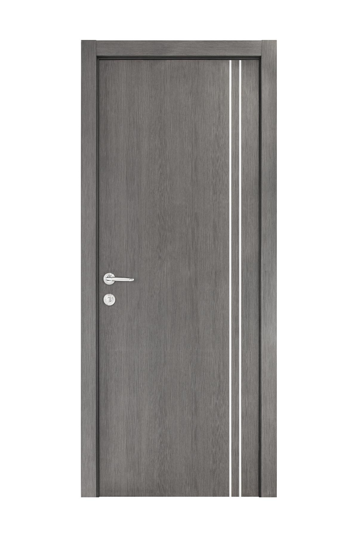 Smart 006 Gray Wood Eco Veneer Interior Door