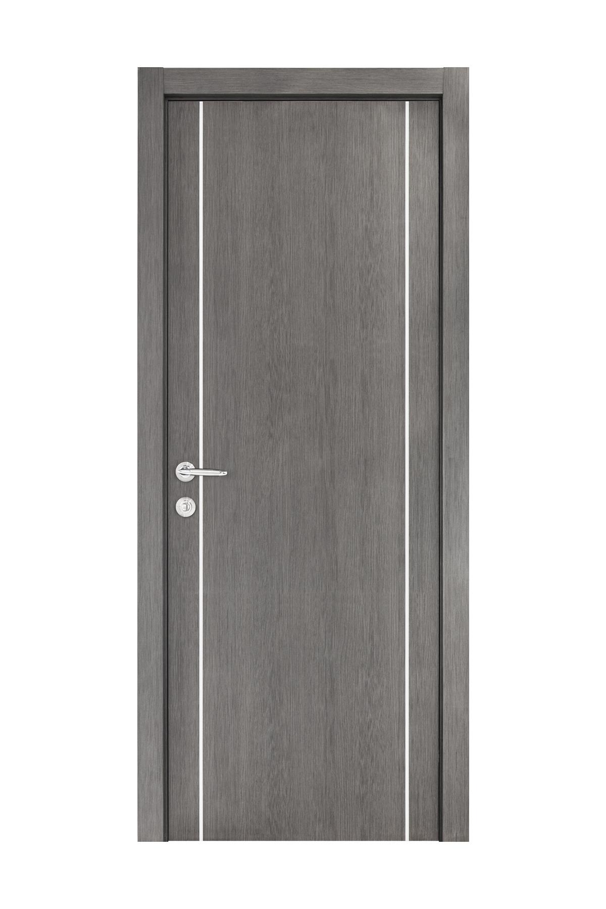 Smart 008 Gray Wood Eco Veneer Interior Door
