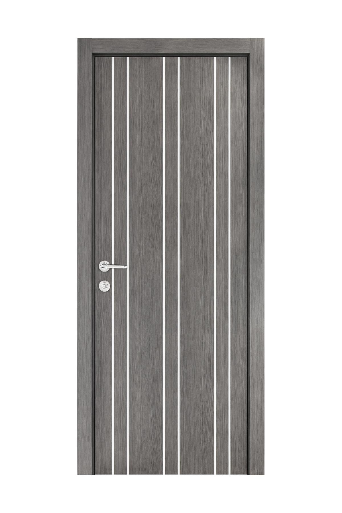 Smart 012 Gray Wood Eco Veneer Interior Door