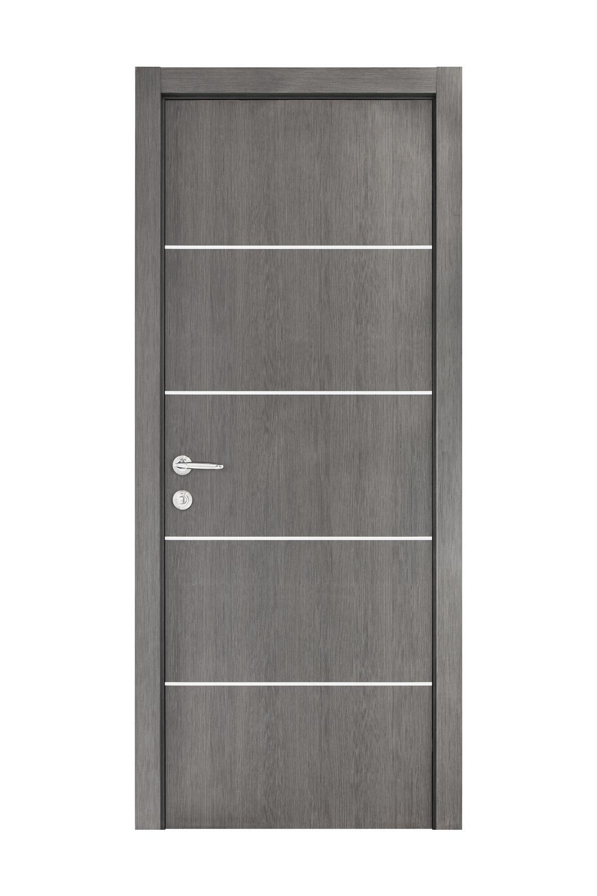 Smart 018 Gray Wood Eco Veneer Interior Door