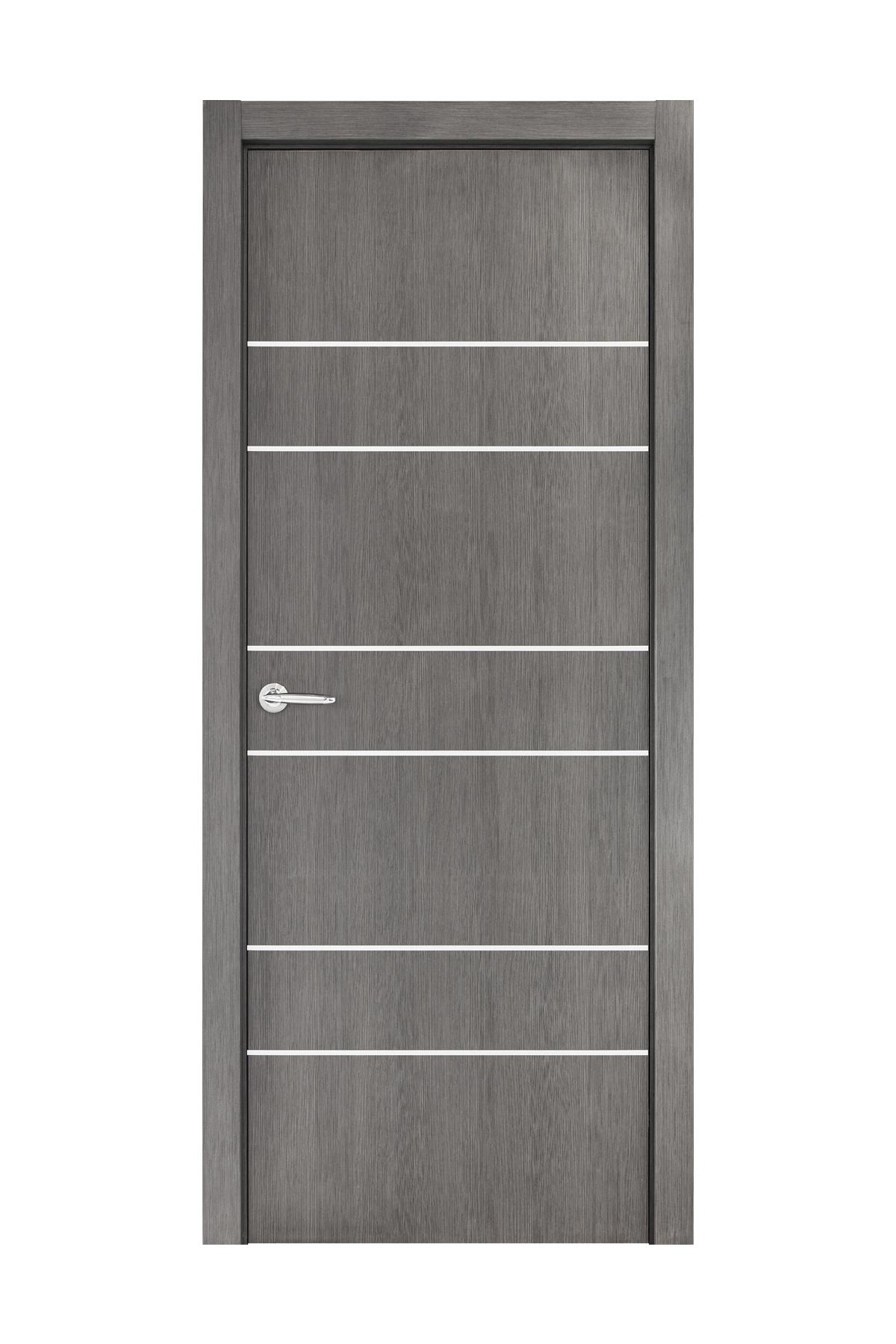 Smart 020 Gray Wood Eco Veneer Interior Door