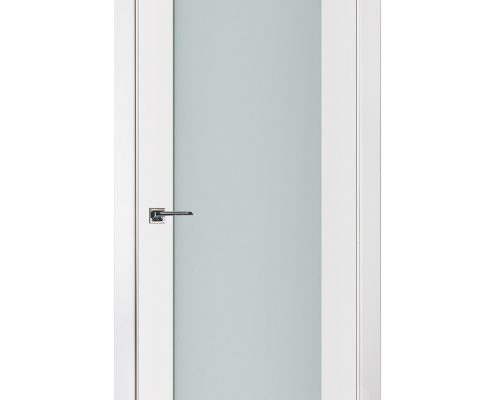 Triplex 012 White Wood Lacquered Modern Interior Door