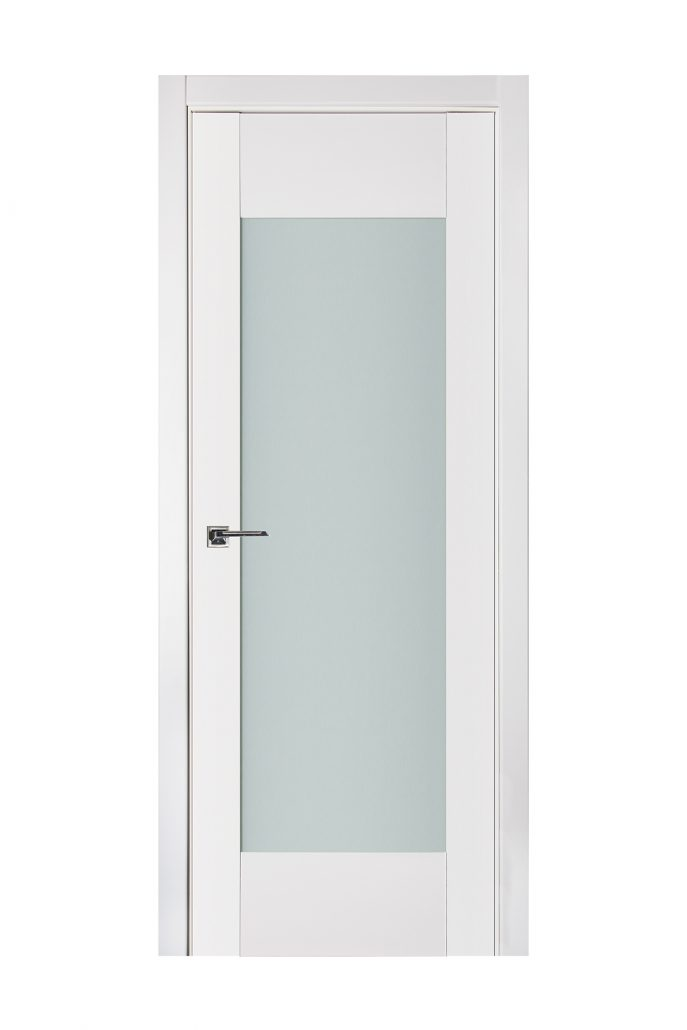 Triplex 012 White Wood Lacquered Modern Interior Door