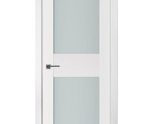 Triplex 013 White Wood Lacquered Modern Interior Door