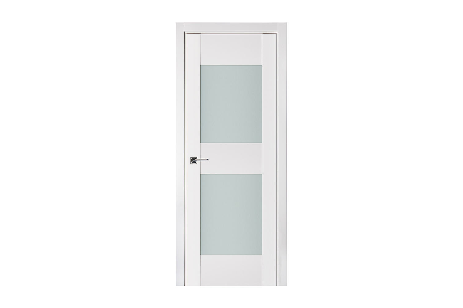 Triplex 013 White Wood Lacquered Modern Interior Door