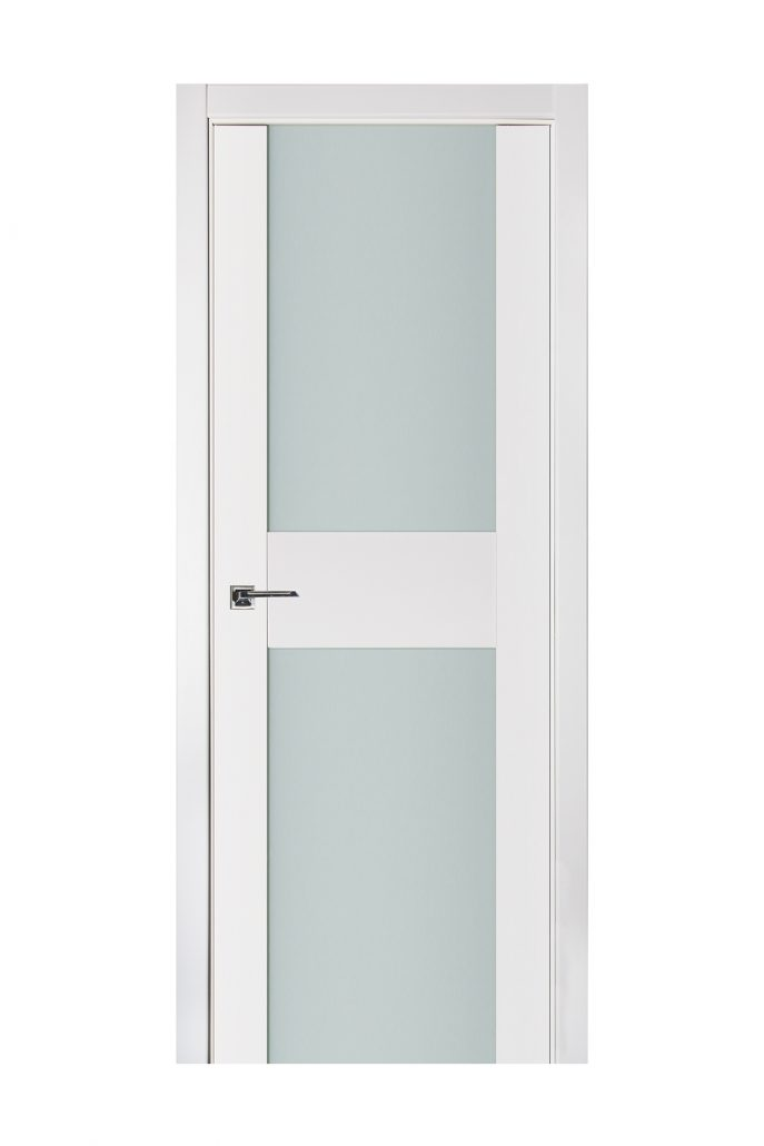 Triplex 014 White Wood Lacquered Modern Interior Door