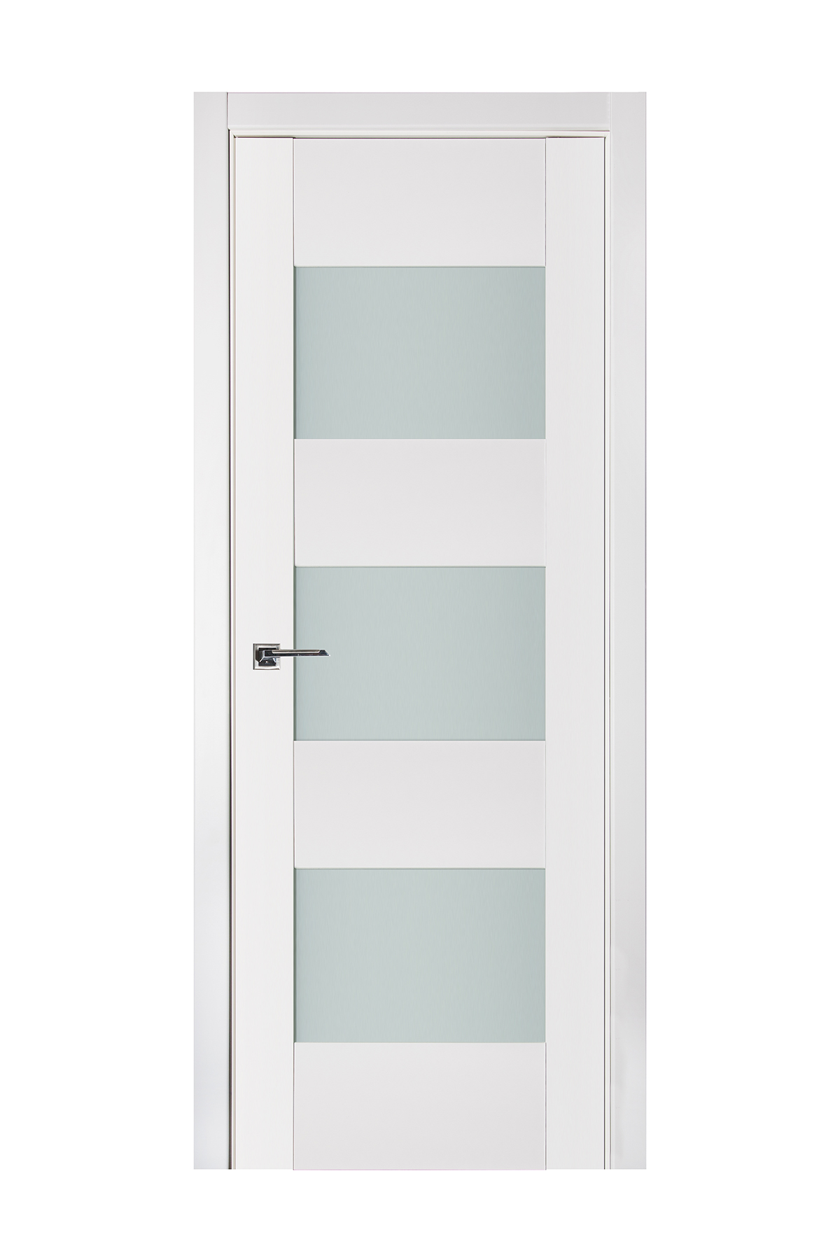 Triplex 015 White Wood Lacquered Modern Interior Door