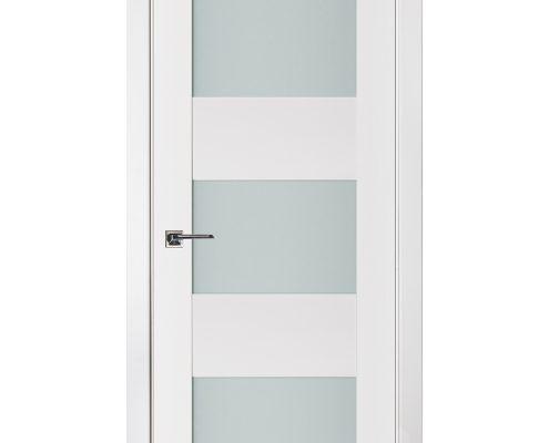 Triplex 016 White Wood Lacquered Modern Interior Door
