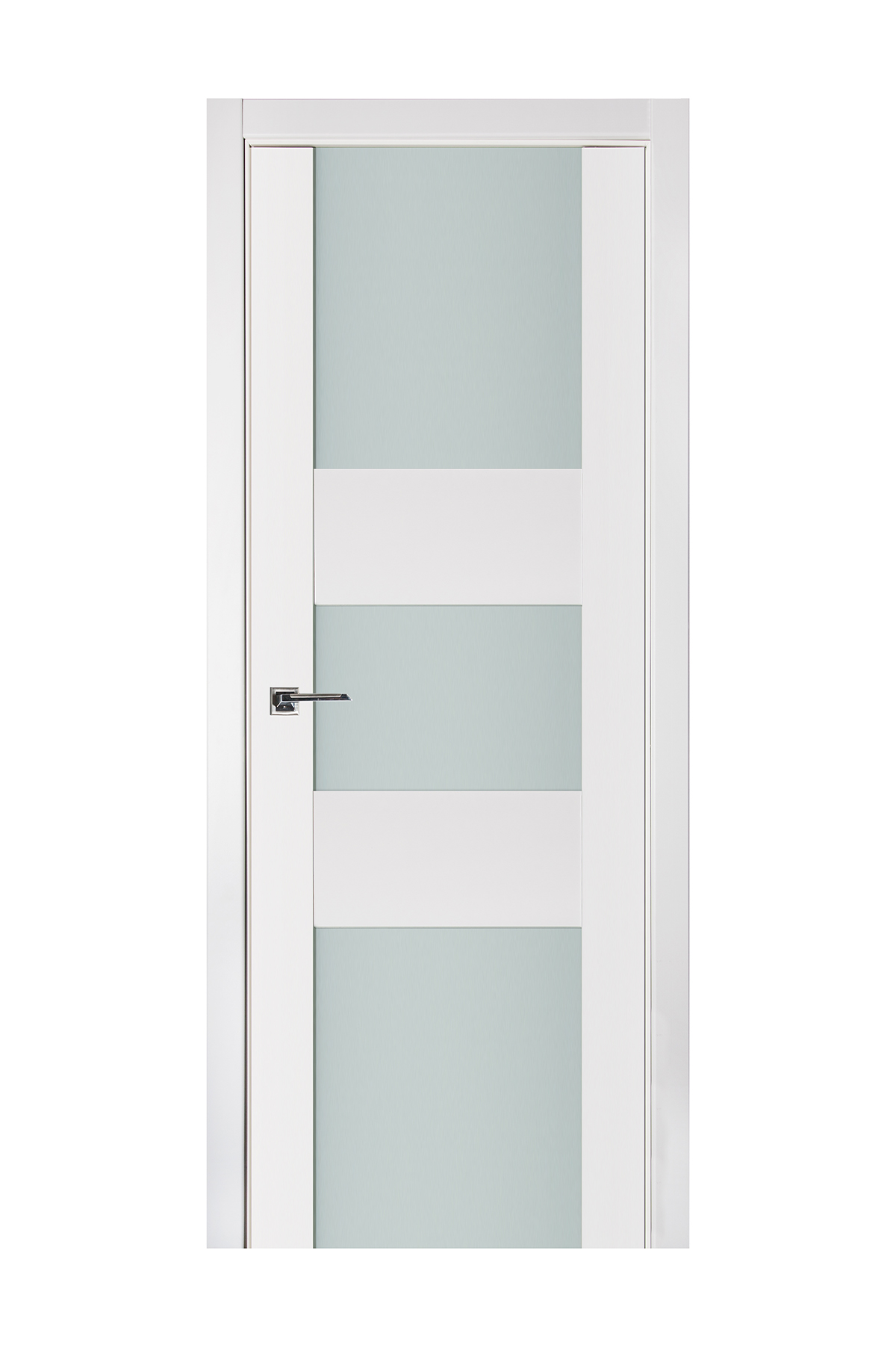 Triplex 016 White Wood Lacquered Modern Interior Door
