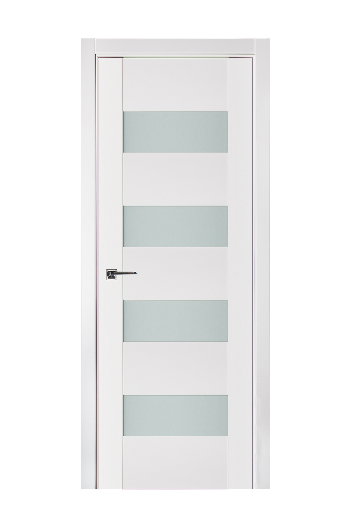 Triplex 017 White Wood Lacquered Modern Interior Door