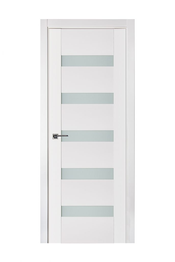 Triplex 018 White Wood Lacquered Modern Interior Door
