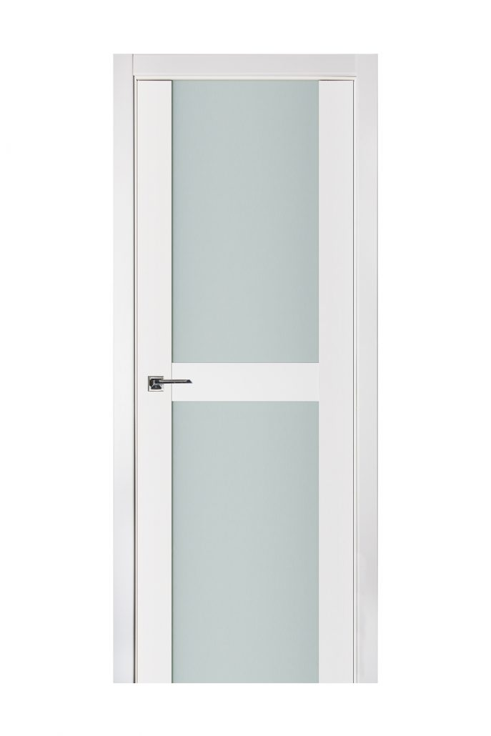 Triplex 019 White Wood Lacquered Modern Interior Door