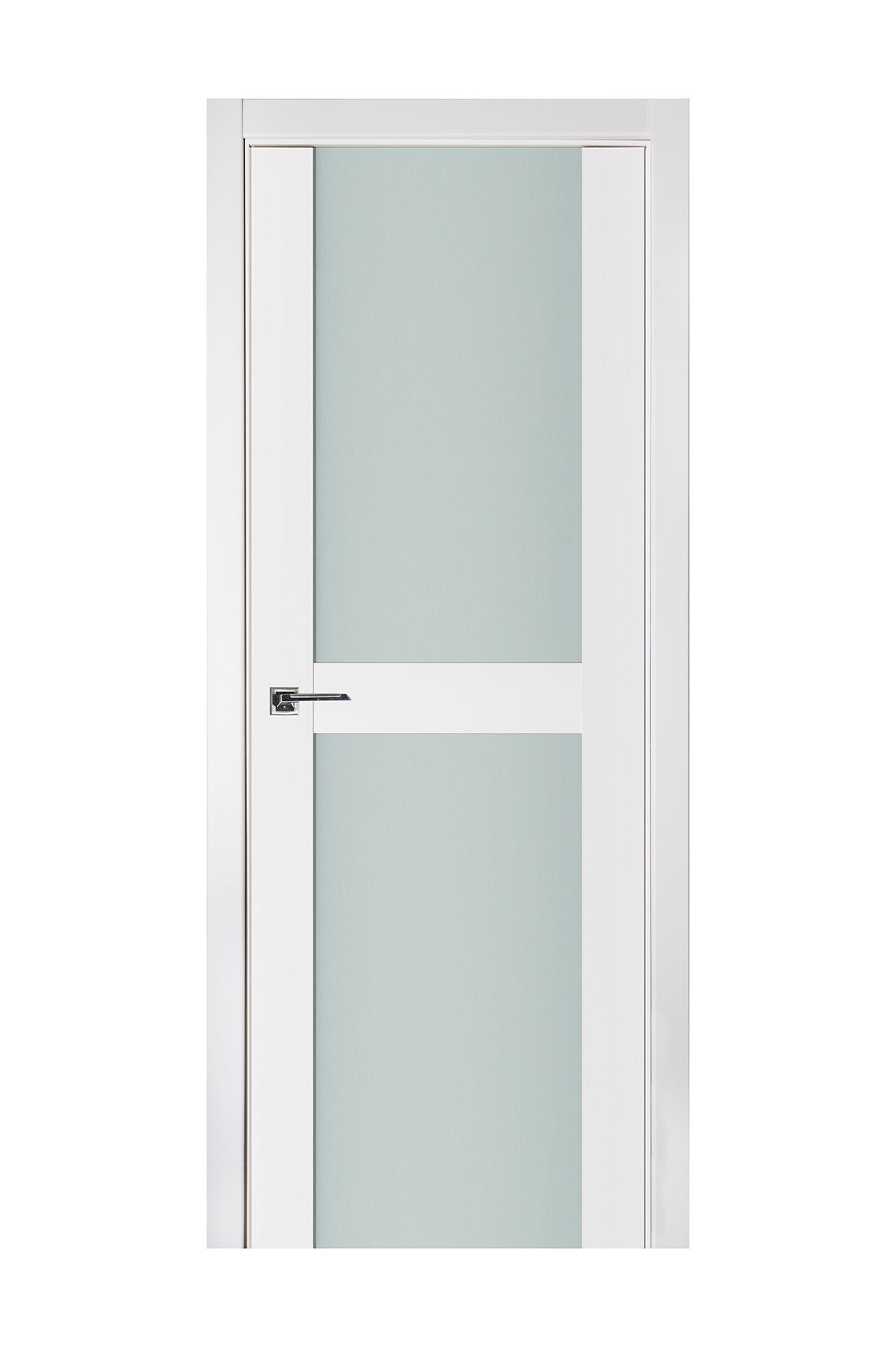 Triplex 019 White Wood Lacquered Modern Interior Door