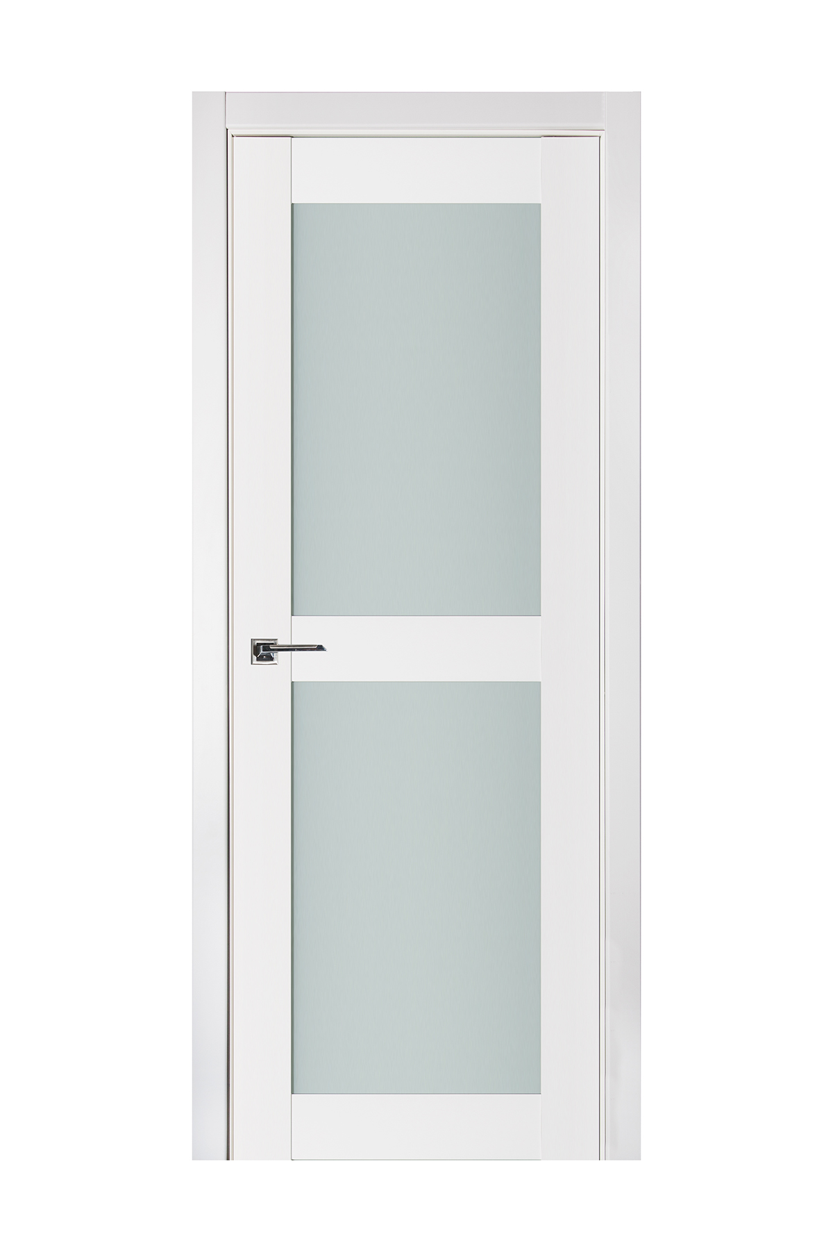 Triplex 020 White Wood Lacquered Modern Interior Door