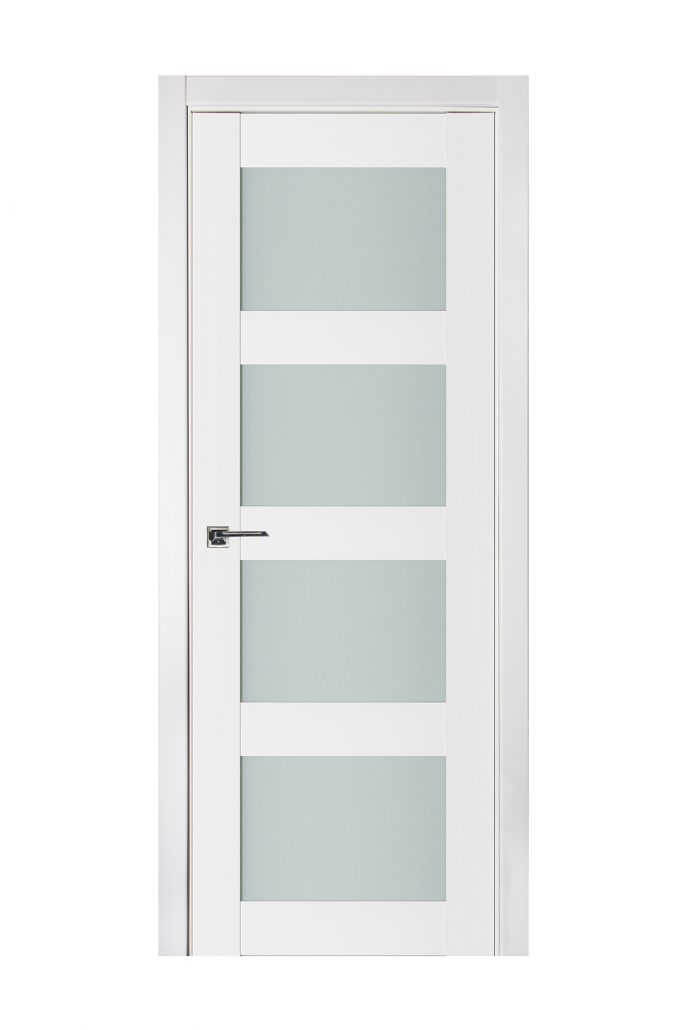 Triplex 021 White Wood Lacquered Modern Interior Door