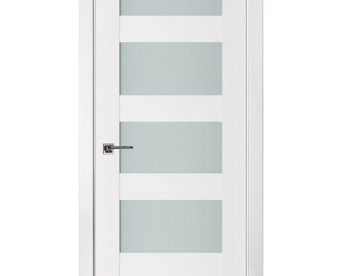 Triplex 022 White Wood Lacquered Modern Interior Door