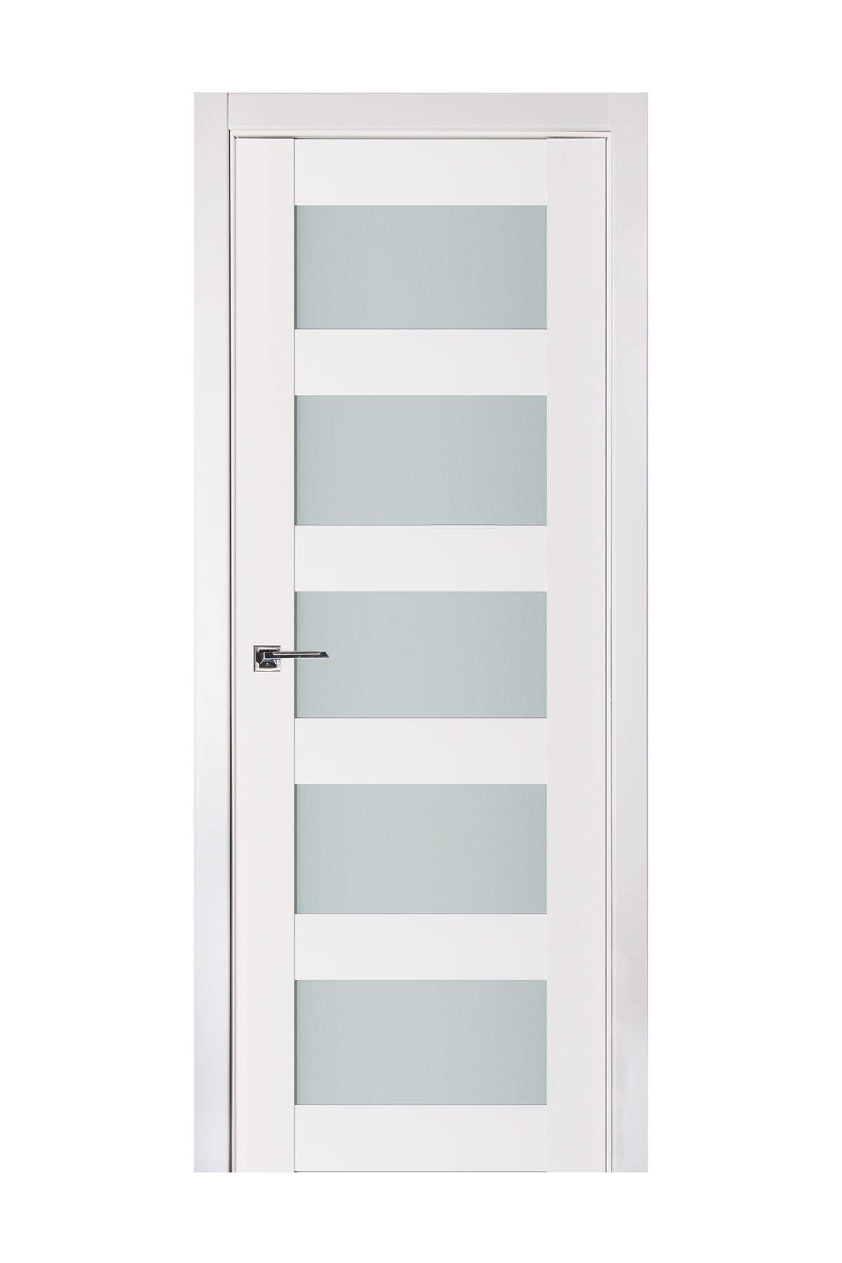 Triplex 022 White Wood Lacquered Modern Interior Door