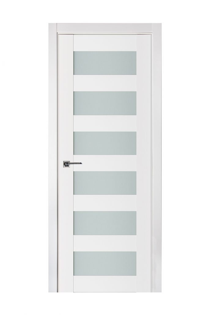Triplex 023 White Wood Lacquered Modern Interior Door