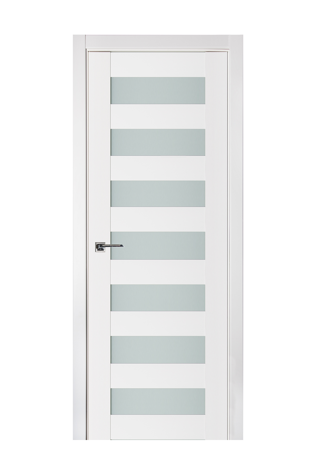 Triplex 024 White Wood Lacquered Modern Interior Door