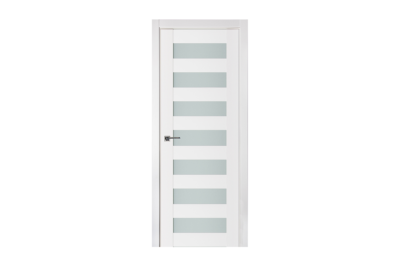 Triplex 024 White Wood Lacquered Modern Interior Door