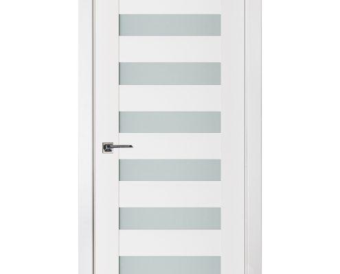 Triplex 025 White Wood Lacquered Modern Interior Door
