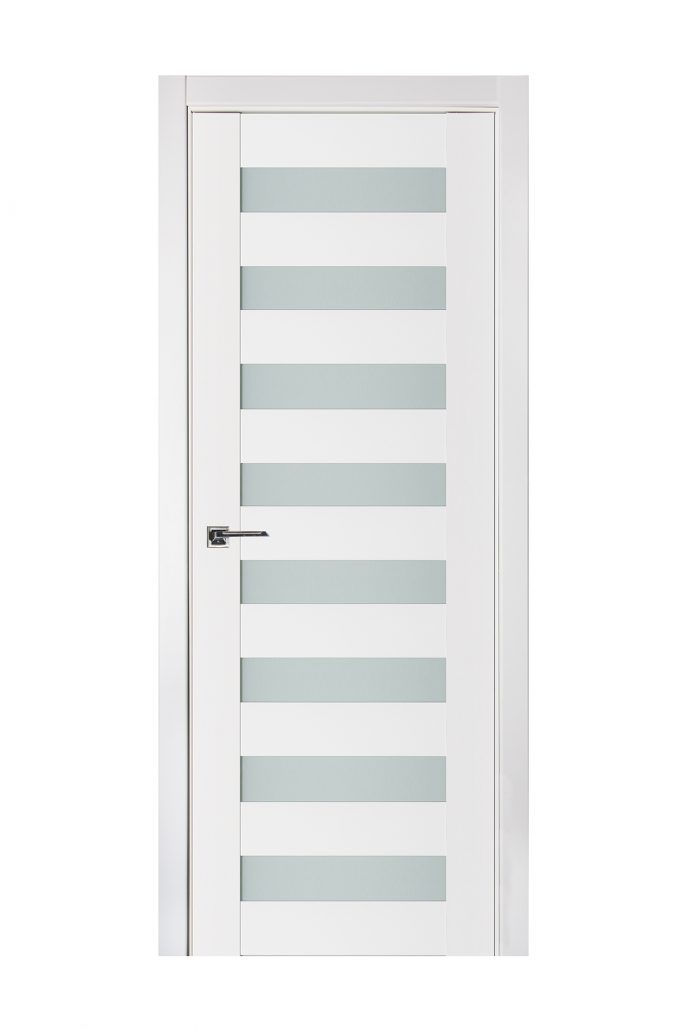 Triplex 025 White Wood Lacquered Modern Interior Door