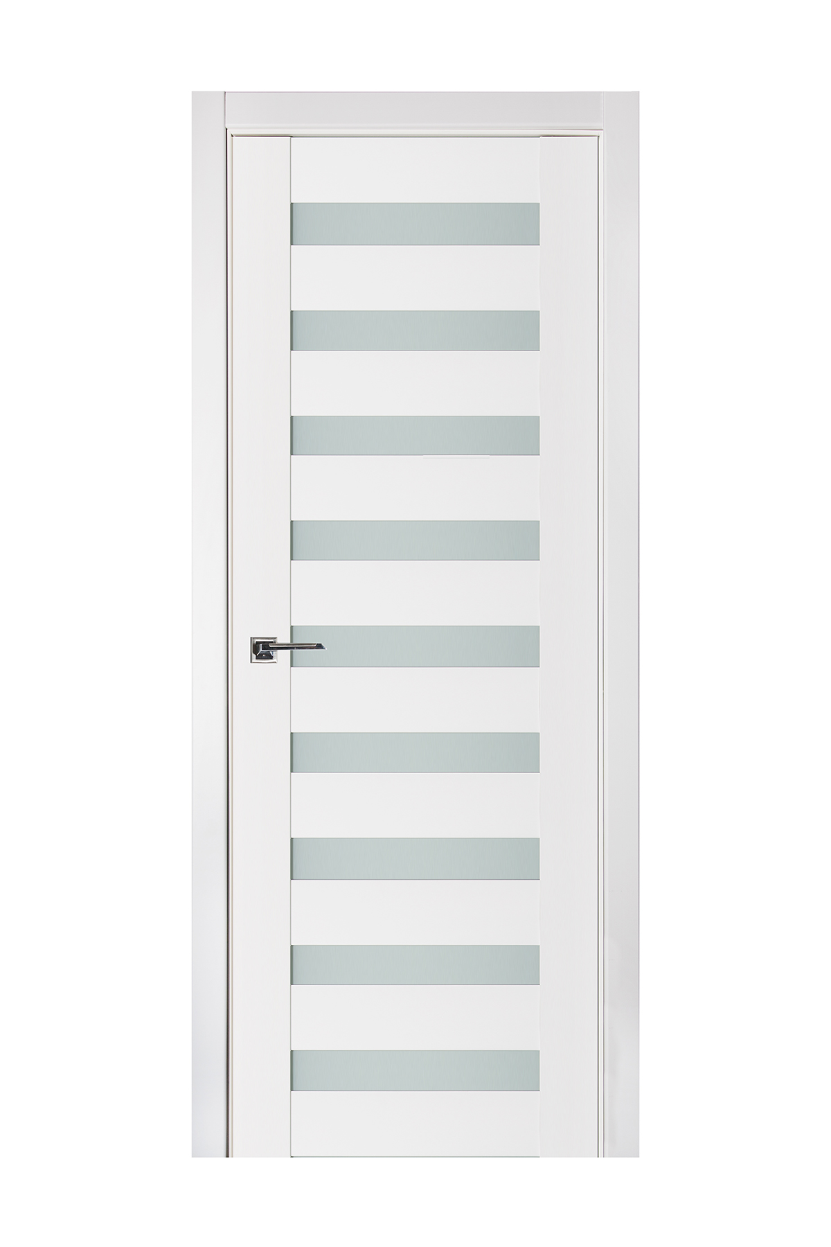 Triplex 026 White Wood Lacquered Modern Interior Door