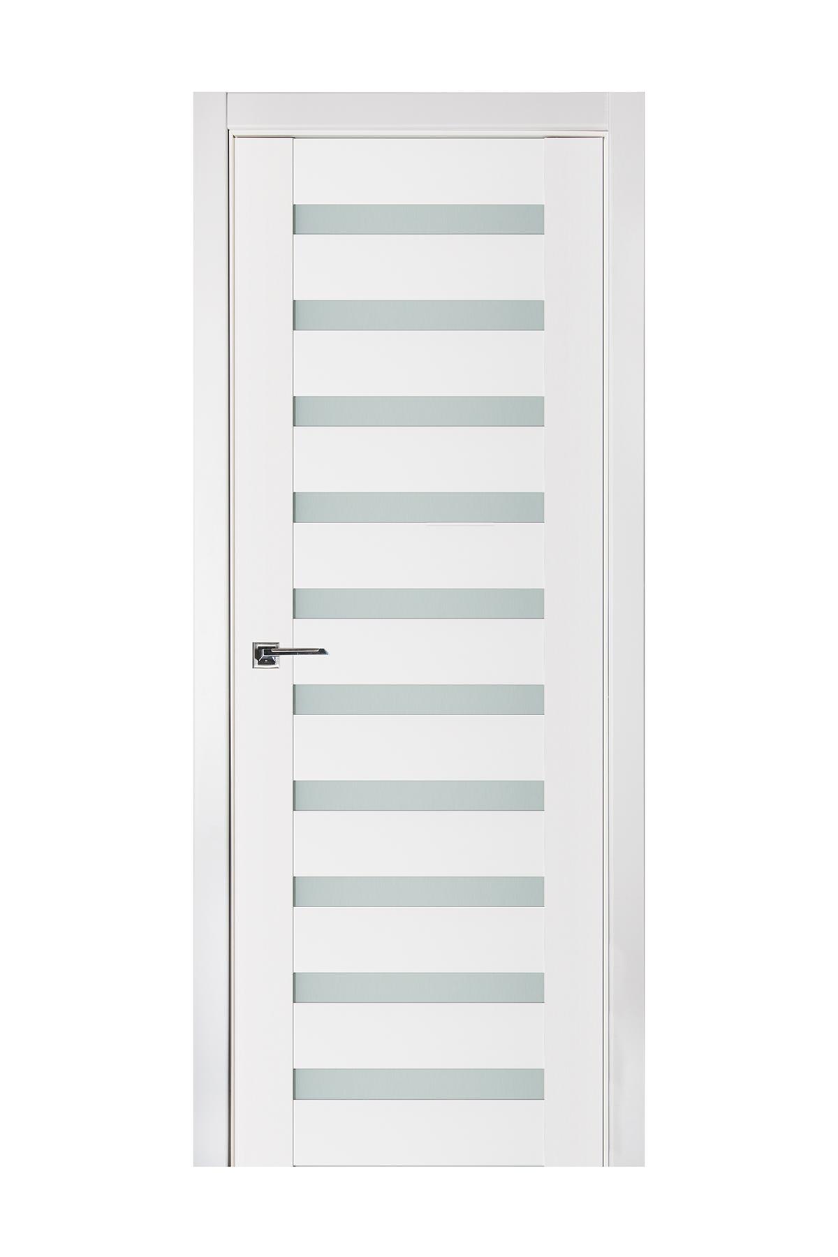 Triplex 027 White Wood Lacquered Modern Interior Door