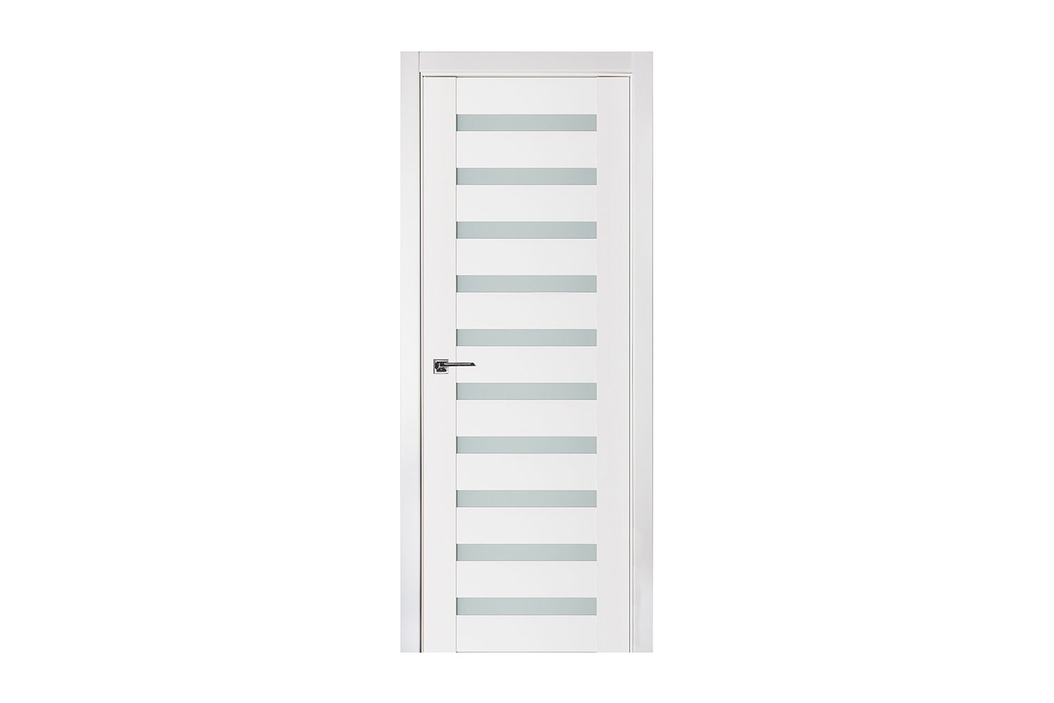 Triplex 027 White Wood Lacquered Modern Interior Door