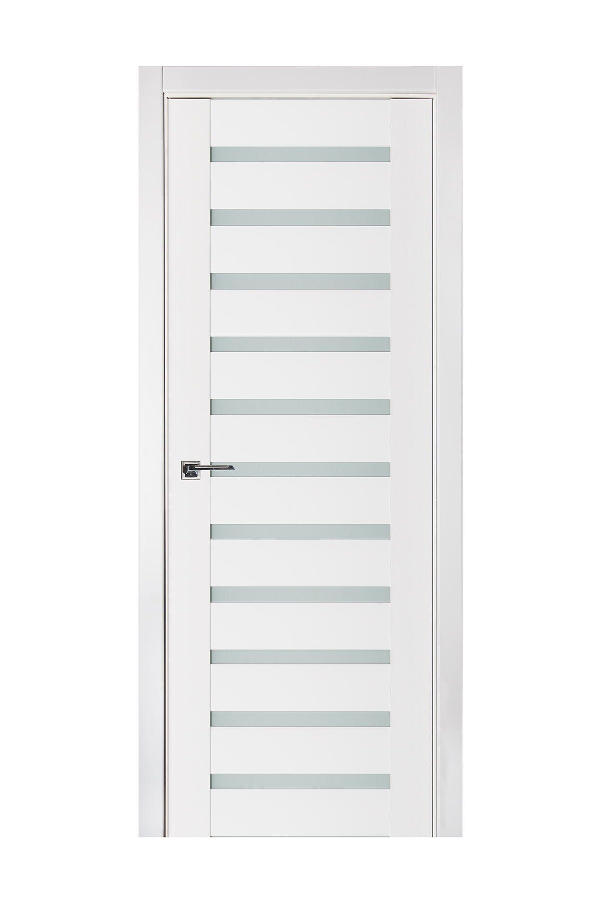 Triplex 028 White Wood Lacquered Modern Interior Door