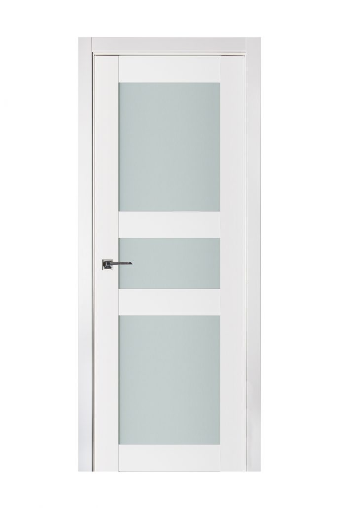 Triplex 029 White Wood Lacquered Modern Interior Door