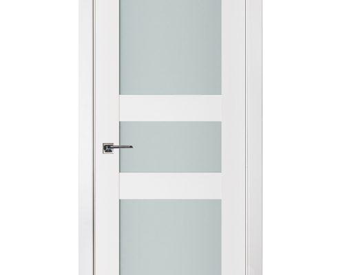 Triplex 030 White Wood Lacquered Modern Interior Door