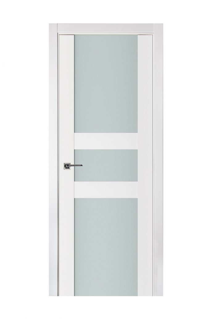 Triplex 030 White Wood Lacquered Modern Interior Door