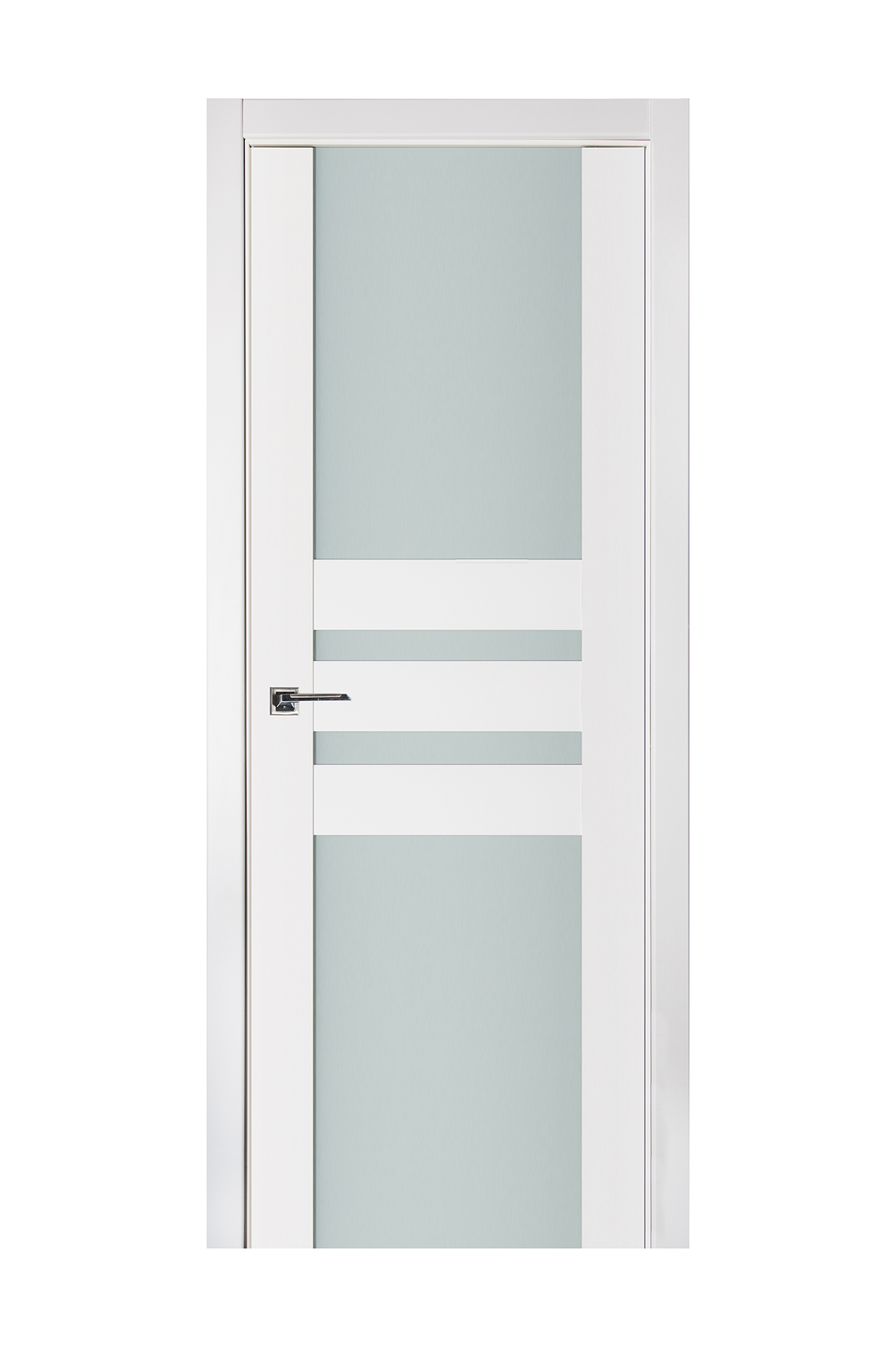Triplex 031 White Wood Lacquered Modern Interior Door