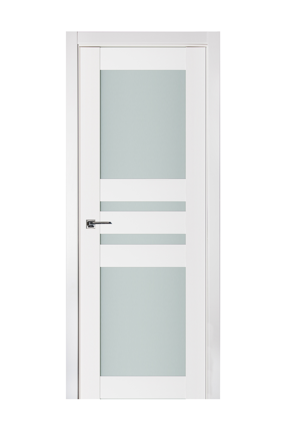 Triplex 032 White Wood Lacquered Modern Interior Door
