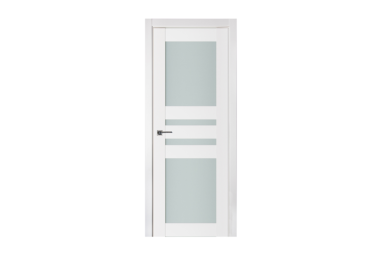 Triplex 032 White Wood Lacquered Modern Interior Door
