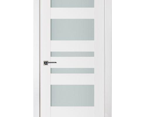 Triplex 033 White Wood Lacquered Modern Interior Door
