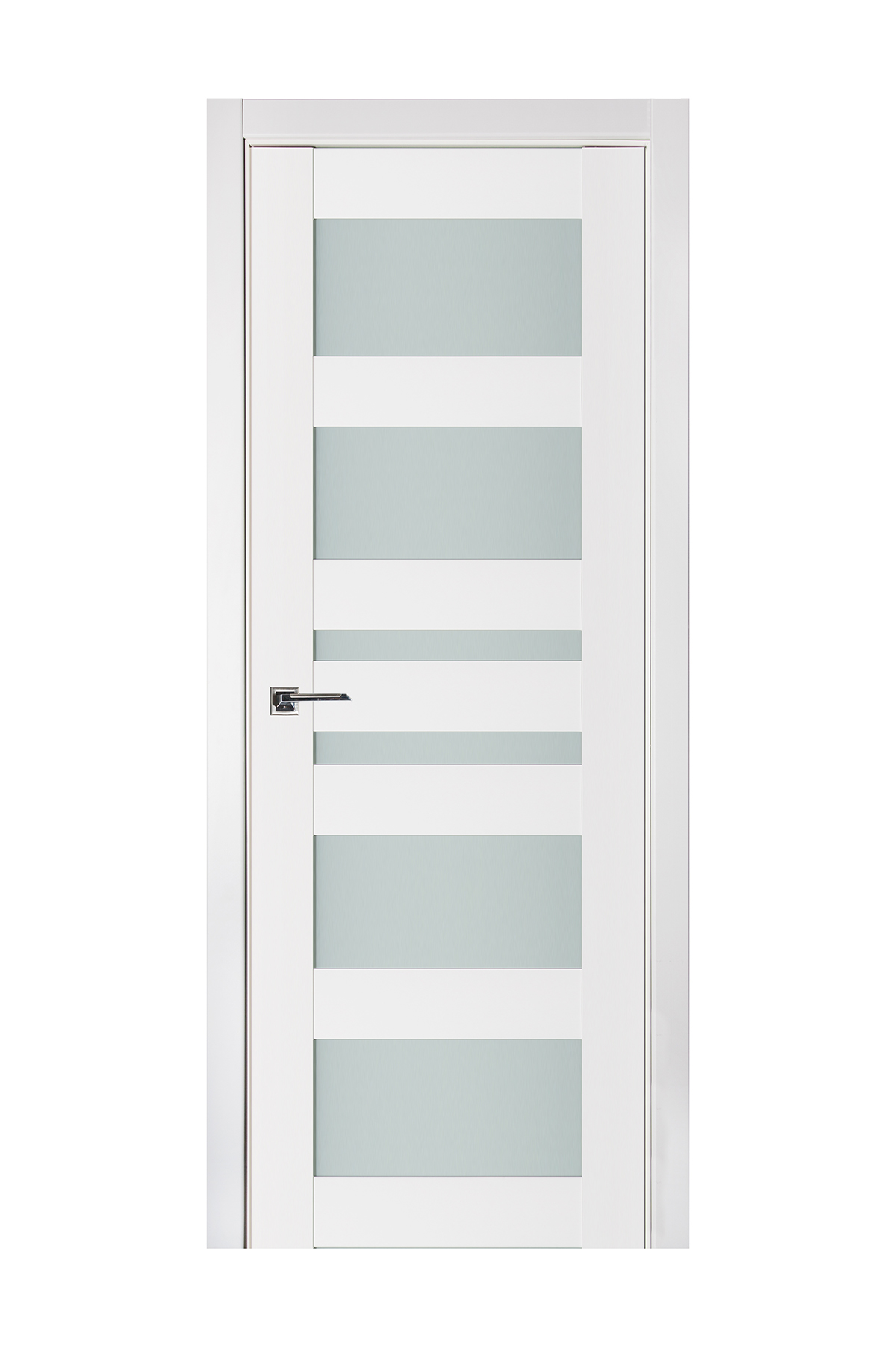 Triplex 033 White Wood Lacquered Modern Interior Door
