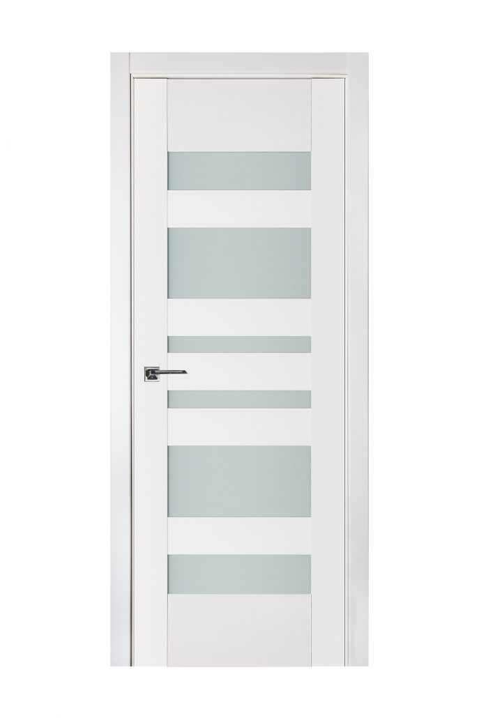 Triplex 034 White Wood Lacquered Modern Interior Door