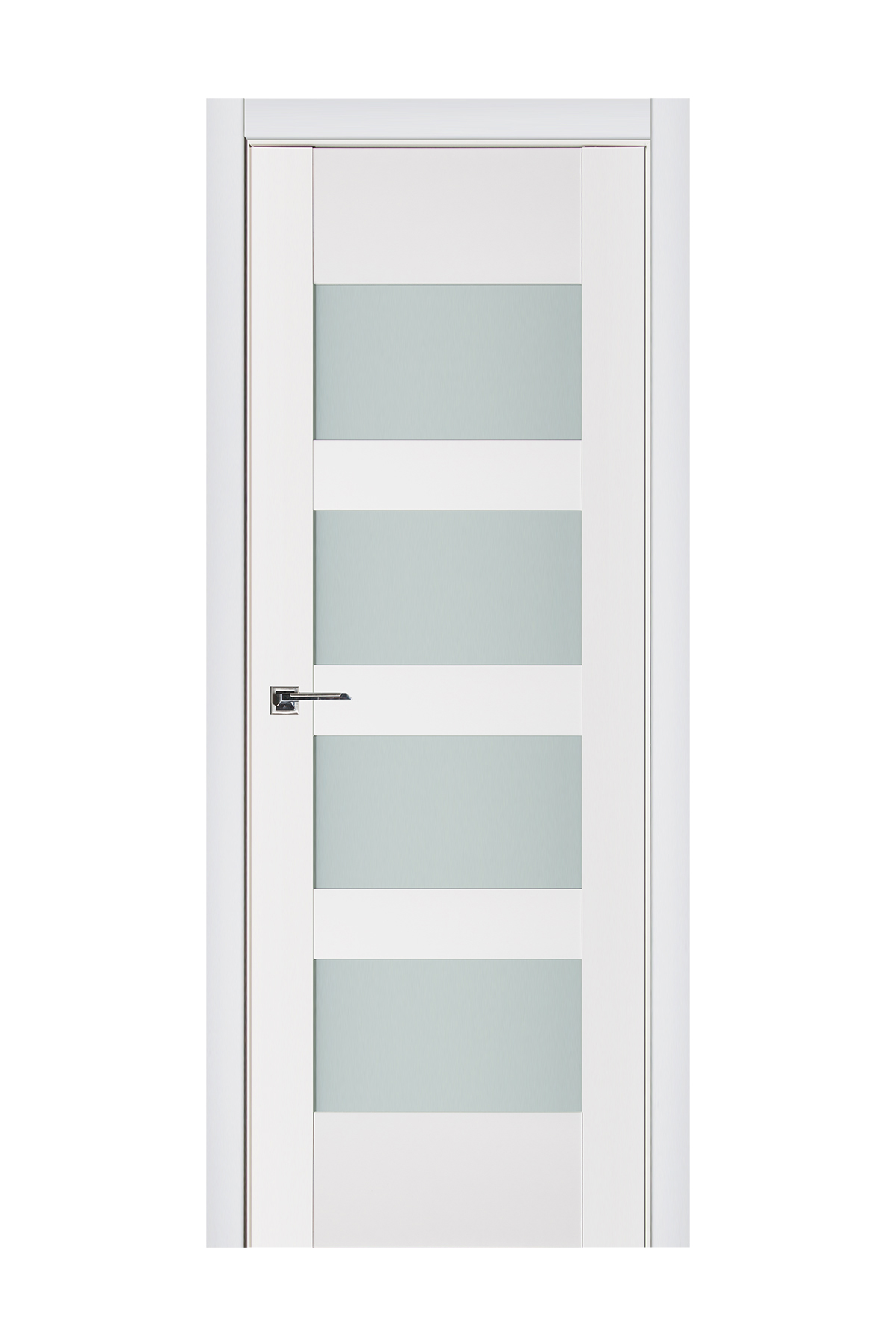 Triplex 035 White Wood Lacquered Modern Interior Door