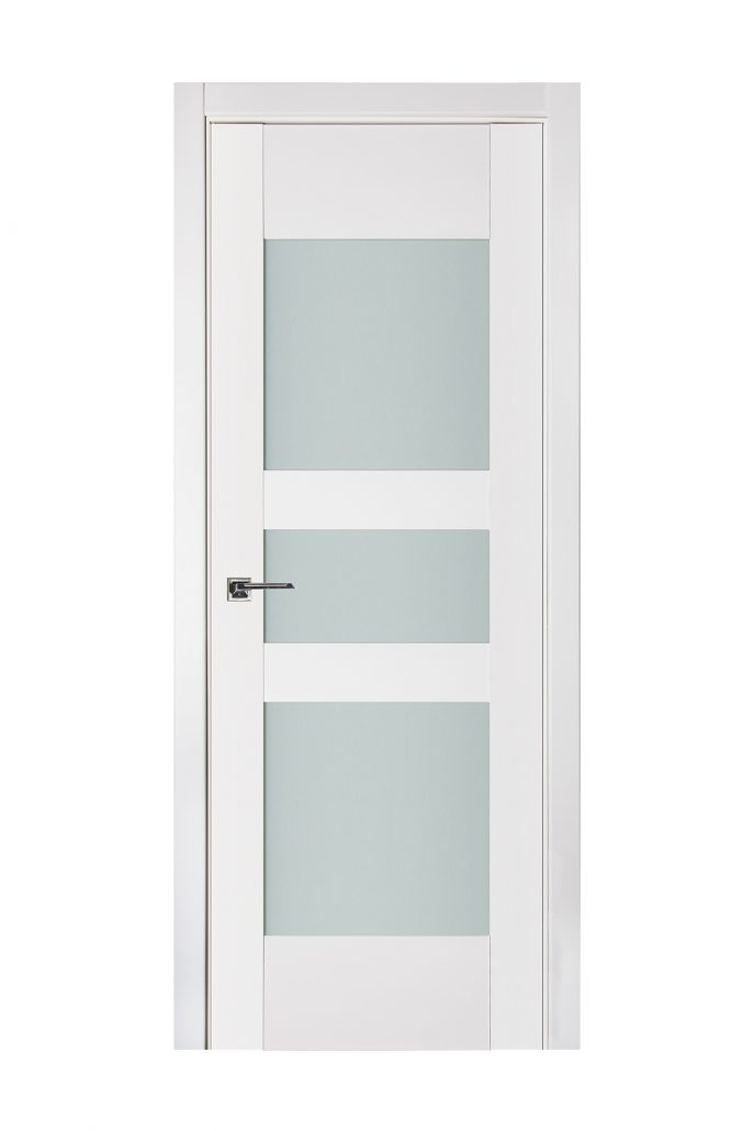 Triplex 036 White Wood Lacquered Modern Interior Door