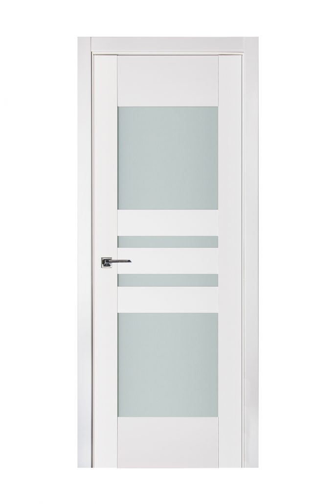 Triplex 037 White Wood Lacquered Modern Interior Door