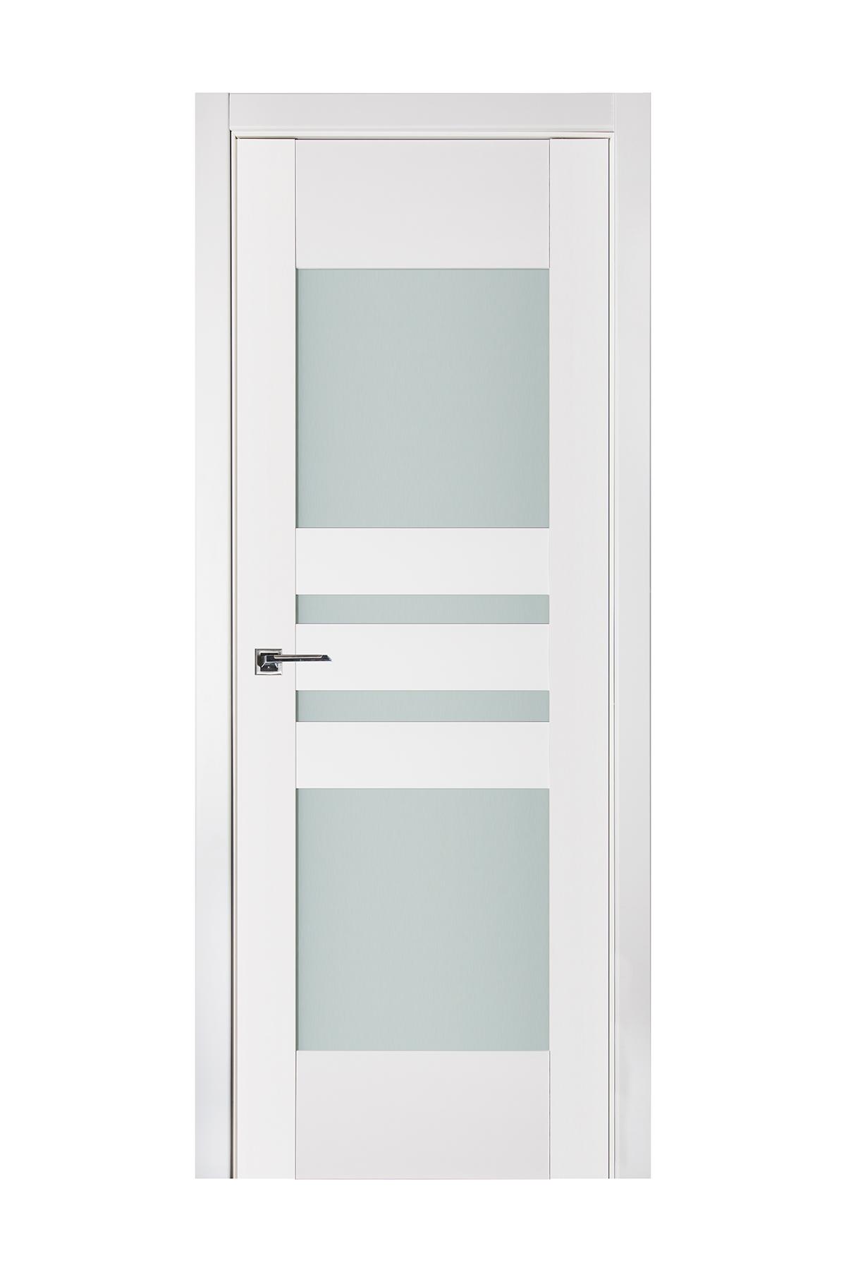Triplex 037 White Wood Lacquered Modern Interior Door