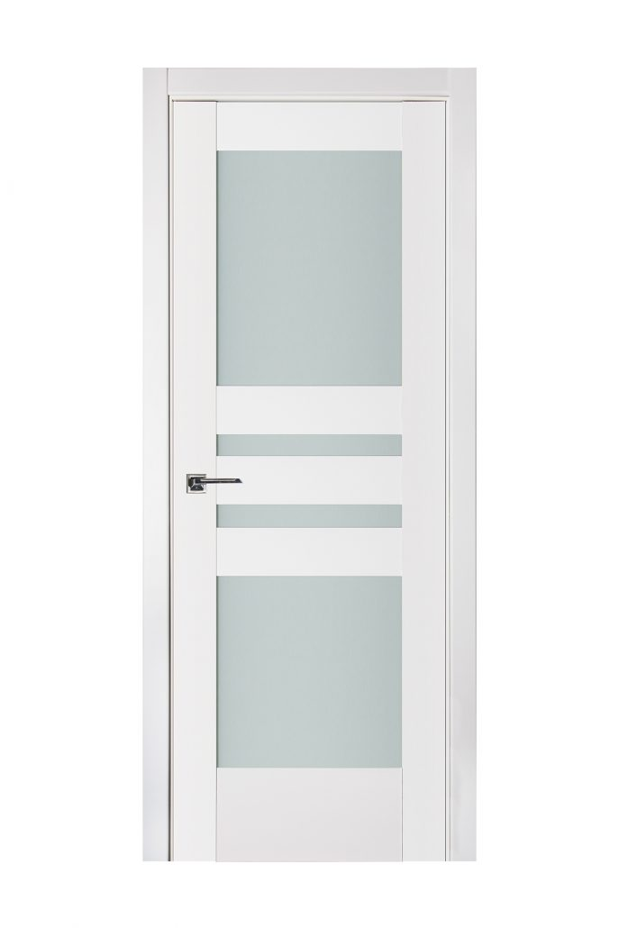 Triplex 038 White Wood Lacquered Modern Interior Door