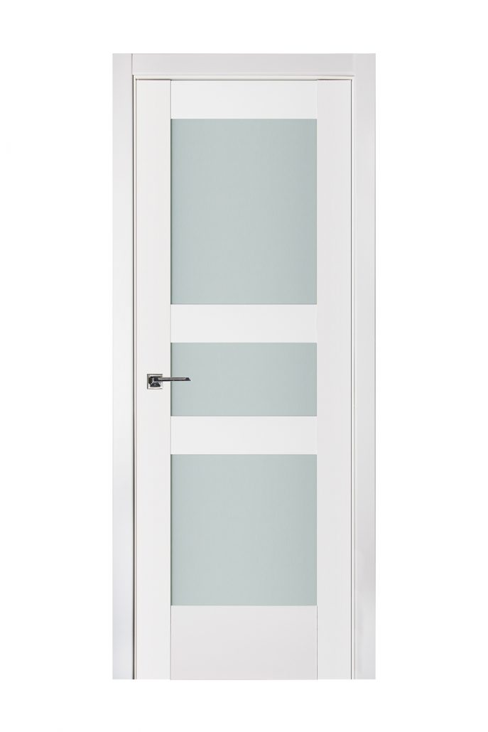 Triplex 039 White Wood Lacquered Modern Interior Door