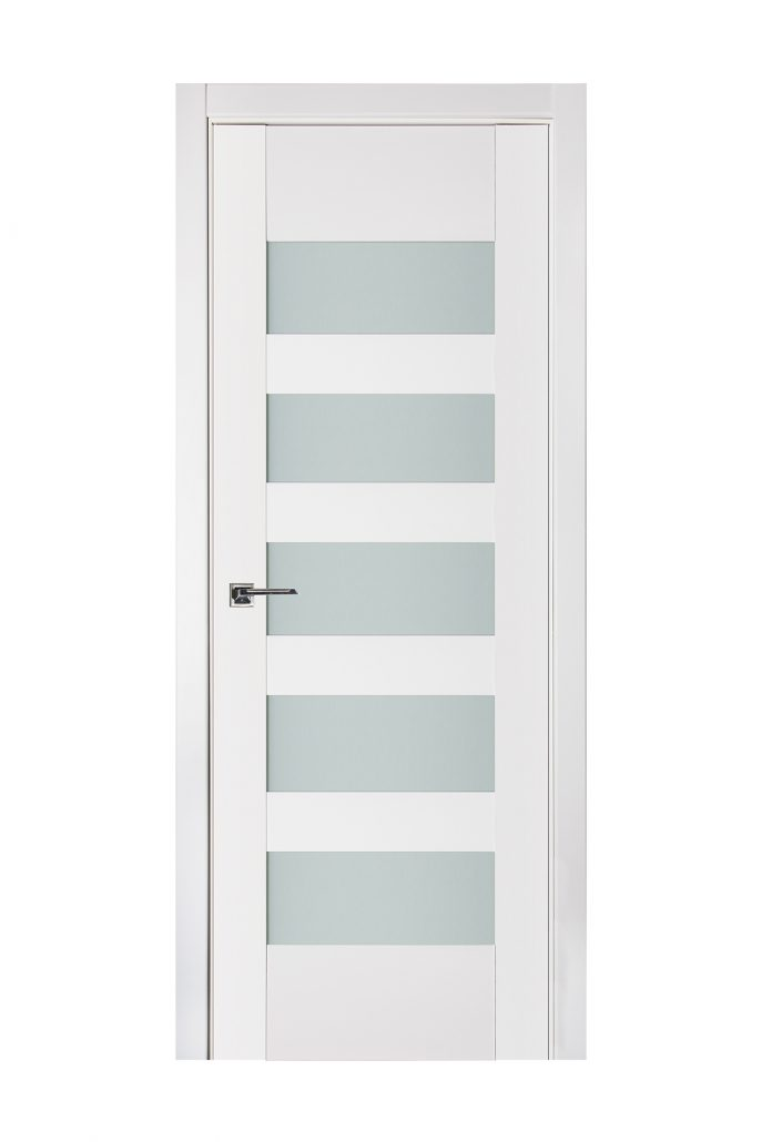 Triplex 040 White Wood Lacquered Modern Interior Door