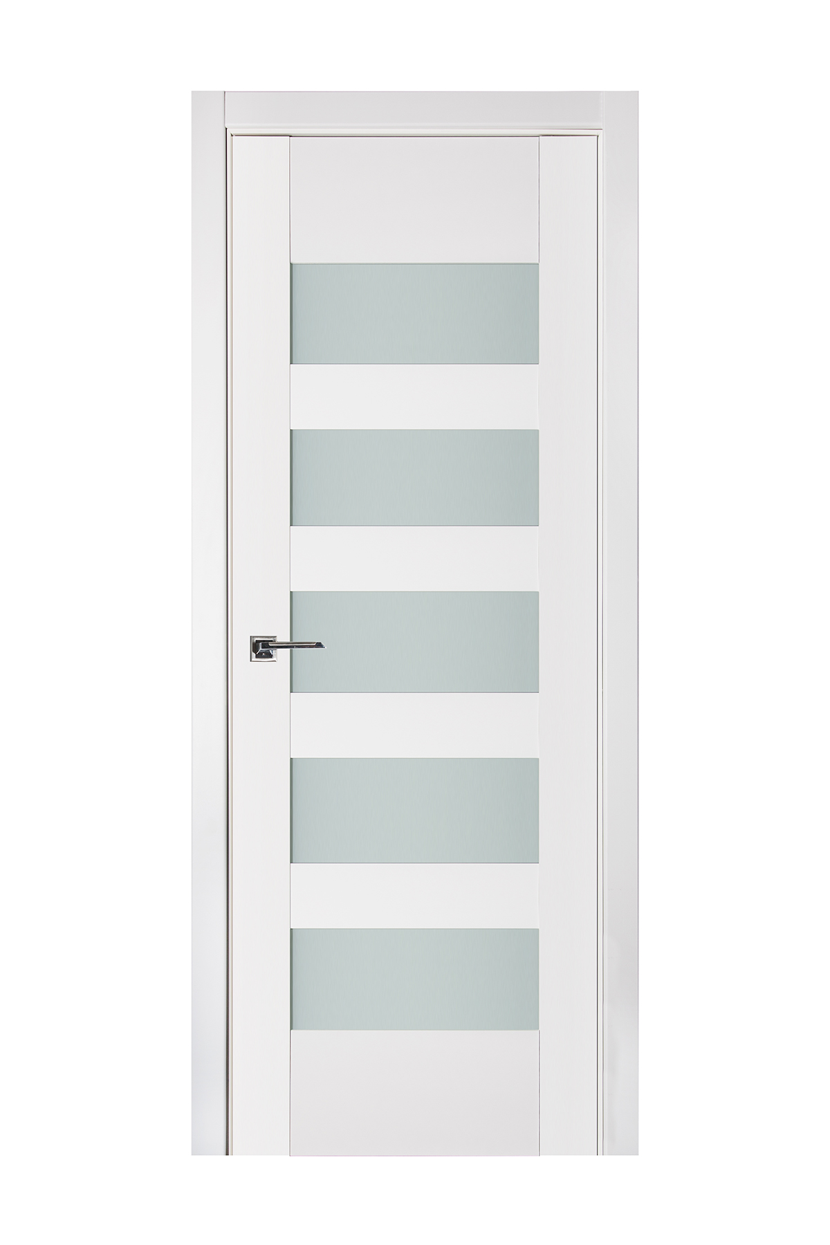 Triplex 040 White Wood Lacquered Modern Interior Door