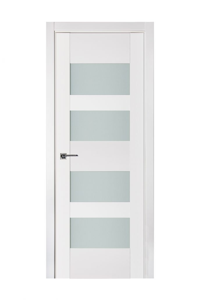 Triplex 041 White Wood Lacquered Modern Interior Door