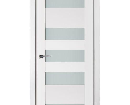 Triplex 042 White Wood Lacquered Modern Interior Door